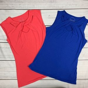 (2) INC twist front tank tops - Med